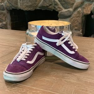 Purple Suede Old Skool Low Vans Rare!